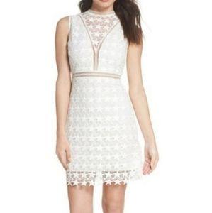 NWT Sam Edelman Star Lace White Sheath Dress